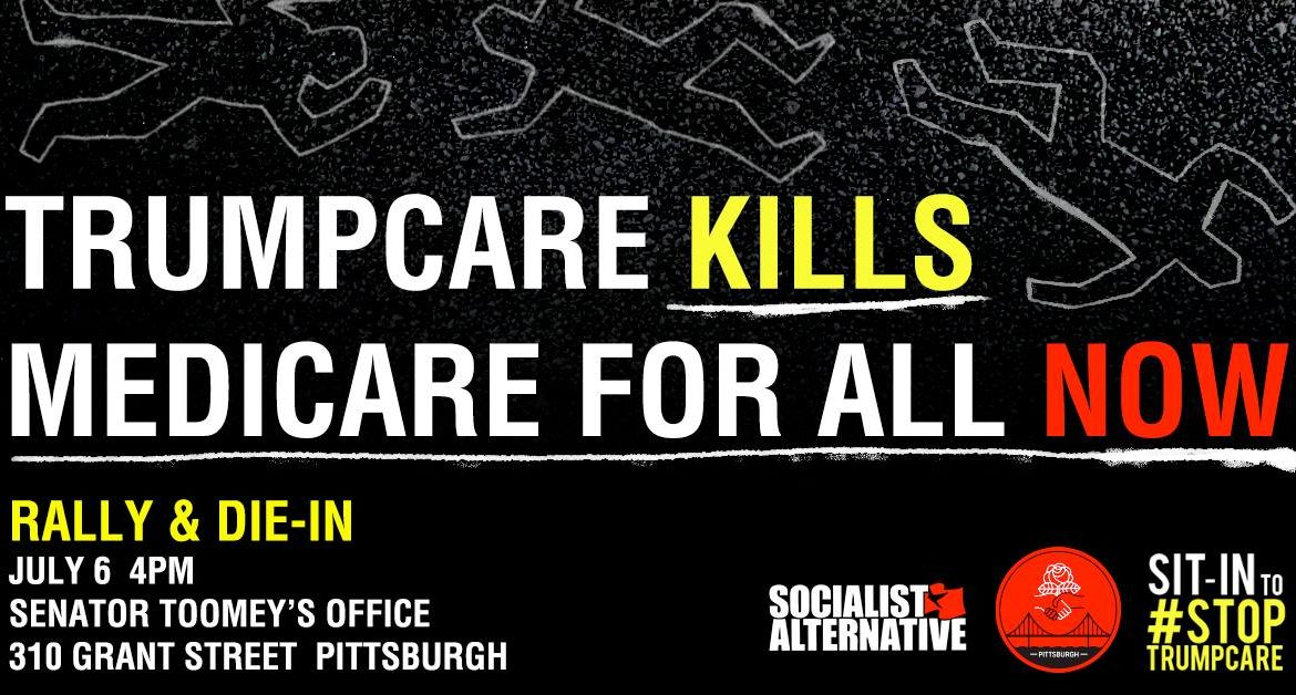 Emergency rally, speak-out, and die-in to stop Trumpcare!