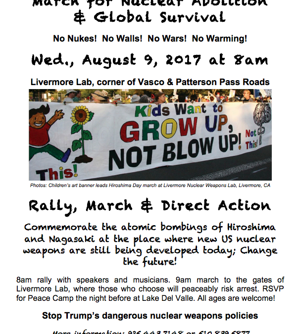 March for Nuclear Abolition & Global Survival
