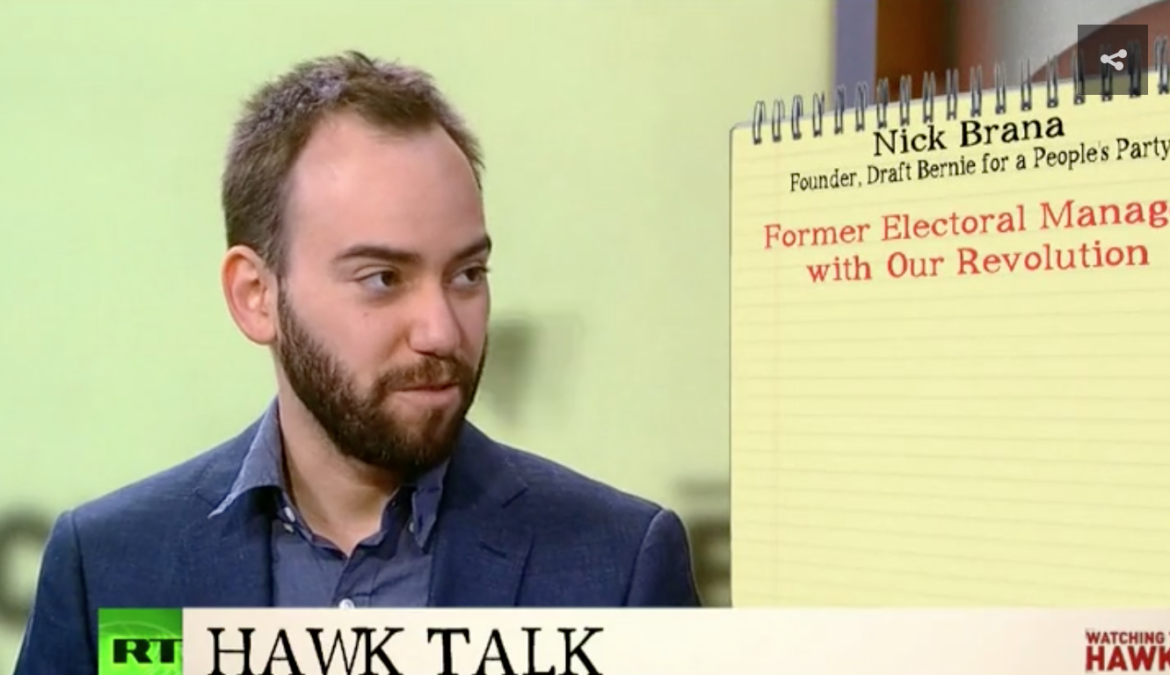 Nick Brana appearance on Watching the Hawks via RT