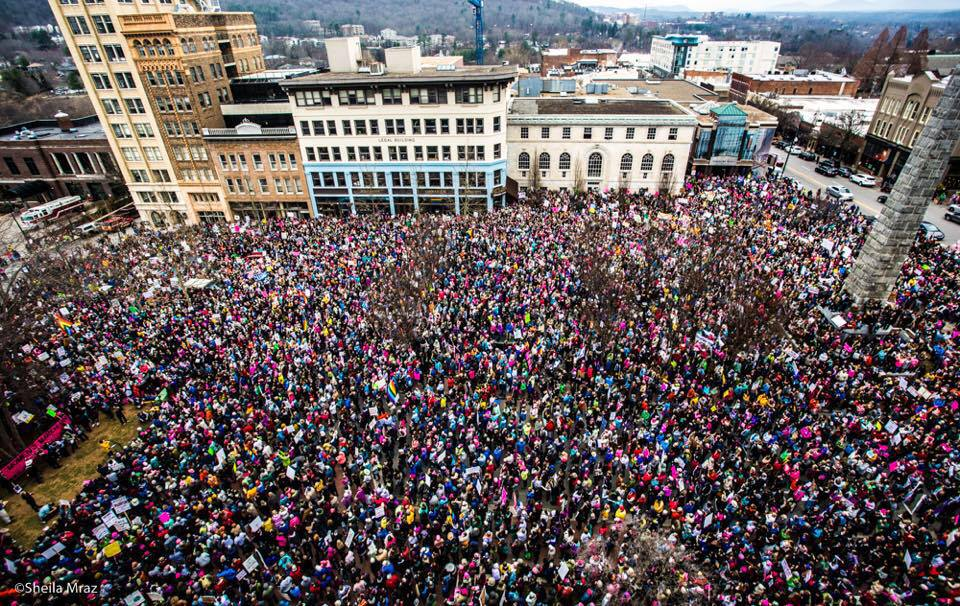 Anniversary Women's March on Asheville – 2018